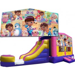 (C) Doc McStuffins Bounce Slide combo (Wet or Dry)