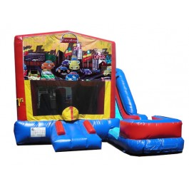 (C) Cartoon 7N1 Bounce Slide combo (Wet or Dry)