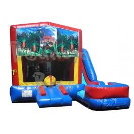 (C) Jungle Safari 7N1 Bounce Slide combo (Wet or Dry)