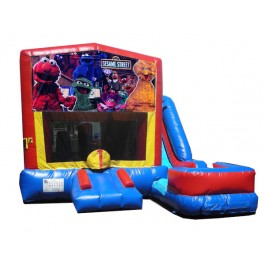 (C) Sesame Street 7N1 Bounce Slide combo (Wet or Dry)