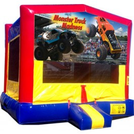 (C) Monster Truck Banner Bounce House