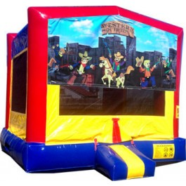 (C) Western Square Bounce House