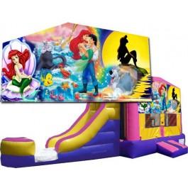 (C) Little Mermaid Bounce Slide combo (Wet or Dry)