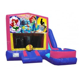 (C) Little Mermaid 7N1 Bounce Slide combo (Wet or Dry)