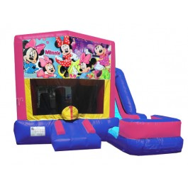 (C) Minnie Mouse 7N1 Bounce Slide combo (Wet or Dry)