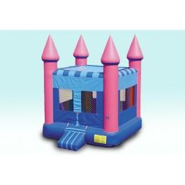 (A) Pink Flatroof Castle Bounce House