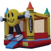 (A) Econo Happy Face Bounce House