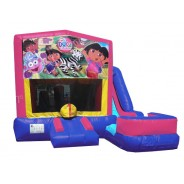 (C) Dora The Explorer 7N1 Bounce Slide combo (Wet or Dry)