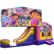 (C) Dora The Explorer Bounce Slide combo (Wet or Dry)