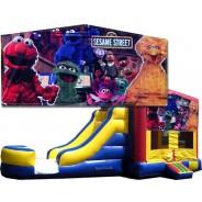 (C) Sesame Street Bounce Slide combo (Wet or Dry)