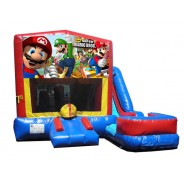 (C) Mario Bros 7N1 Bounce Slide combo (Wet or Dry)
