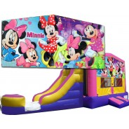 (C) Minnie Mouse Bounce Slide combo (Wet or Dry)