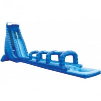 (D) 42ft Dual Blue Crush Slip N Dip Water Slide