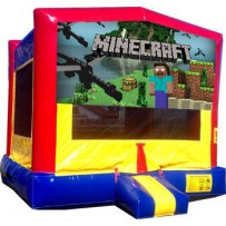 minecraft bounce house rental