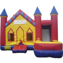(A) Castle V-roof 7N1 Bounce Slide combo (Wet or Dry)