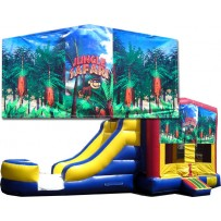 (C) Jungle Safari Bounce Slide combo (Wet or Dry)