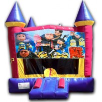 (C) Despicable Me Pink Castle Bounce House