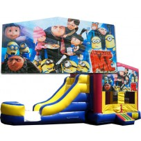 (C) Despicable Me Blue or Pink Bounce Slide combo (Wet or Dry)