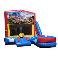 (C) Dinosaurs 7n1 Bounce Slide combo (Wet or Dry)