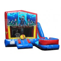 (C) Aquatic Adventure 7N1 Bounce Slide combo (Wet or Dry)