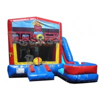 (C) Fire Dog 7N1 Bounce Slide combo (Wet or Dry)