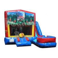 (C) Jungle Safari 7N1 Bounce Slide combo (Wet or Dry)