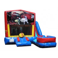 (C) Sports Banner 7n1 Bounce Slide combo (Wet or Dry)