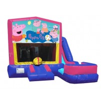 (C) Peppa Pig 7N1 Bounce Slide combo (Wet or Dry)