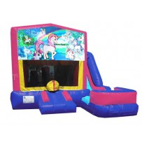 (C) Unicorn 7N1 Bounce Slide combo (Wet or Dry)