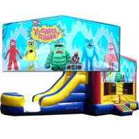 (C) Yo Gabba Gabba Bounce Slide combo (Wet or Dry)