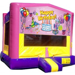 (C) Happy Birthday Bounce House - Girl
