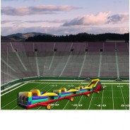 (C) 130ft Collossal Wet Obstacle Course w/16ft slide