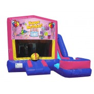 (C) Happy Birthday 7N1 Bounce Slide combo - Girl (Wet or Dry)