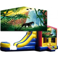 (C) Jungle Paradise Bounce Slide combo (Wet or Dry)
