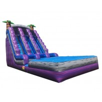 (D) 20ft Double Lane Paradise Wet/Dry Slide