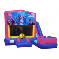 (C) Frozen Pink or Blue 7n1 Bounce Slide combo (Wet or Dry)