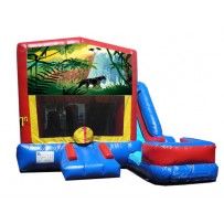 (C) Jungle Paradise 7N1 Bounce Slide combo (Wet or Dry)