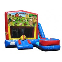 (C) Fun On The Farm 7N1 Bounce Slide combo (Wet or Dry)