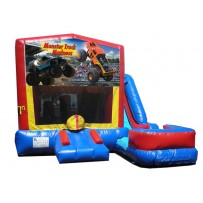 (C) Monster Truck Banner 7N1 Bounce Slide combo (Wet or Dry)