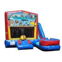 (C) Seaside 7n1 Bounce Slide combo (Wet or Dry)