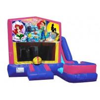 (C) Little Mermaid 7N1 Bounce Slide combo (Wet or Dry)