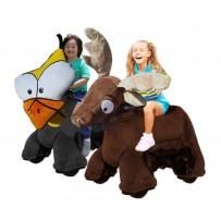 (C) Rydable Animal Go Carts