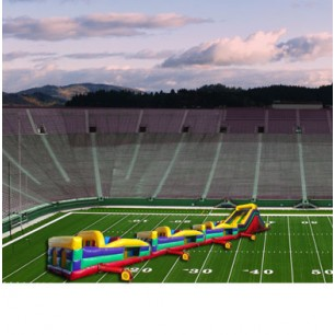 (C) 130ft Collossal Wet/Dry Obstacle Course w/16ft slide