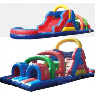 (B) 40ft Wet/Dry Obstacle Course w/12ft slide