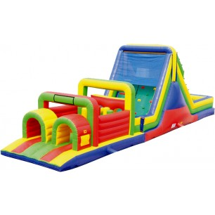 (B) 52ft Wet/Dry Obstacle Course w/16ft slide
