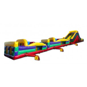 (C) 95ft Wet/Dry Obstacle Course w/16ft slide